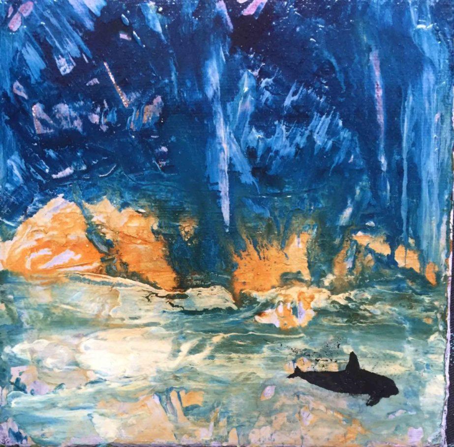 Schattenwesen (Der Wal) – ca. 0.15m x 0.15m