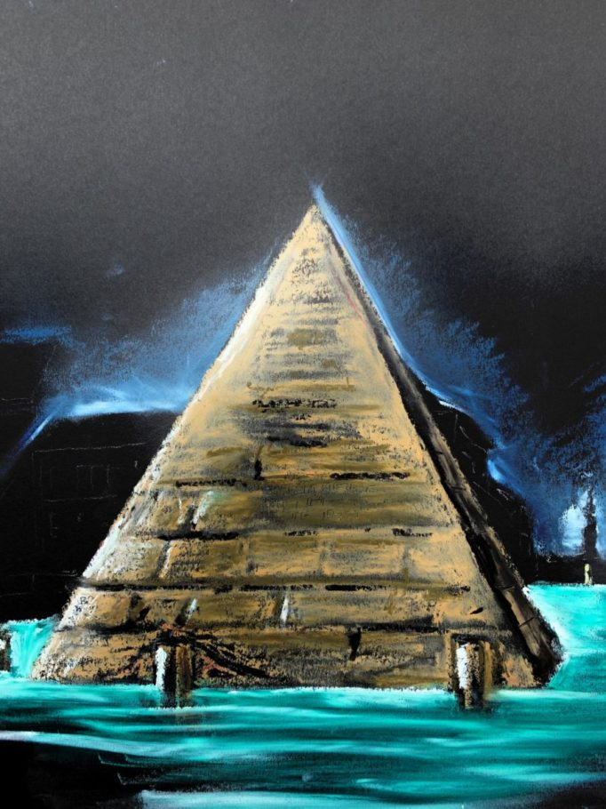 Die Pyramide – ca. 0.50m x 0.60m