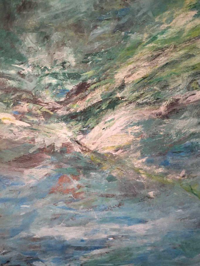 Landschaft wie im Fluge – ca. 1.20m x 1.20m