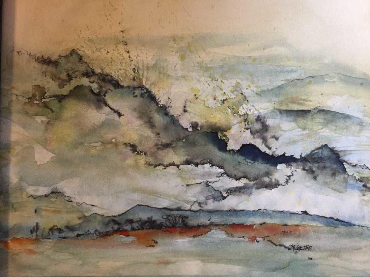 Wolken-Landschaft – ca. 0.50m x 0.40m