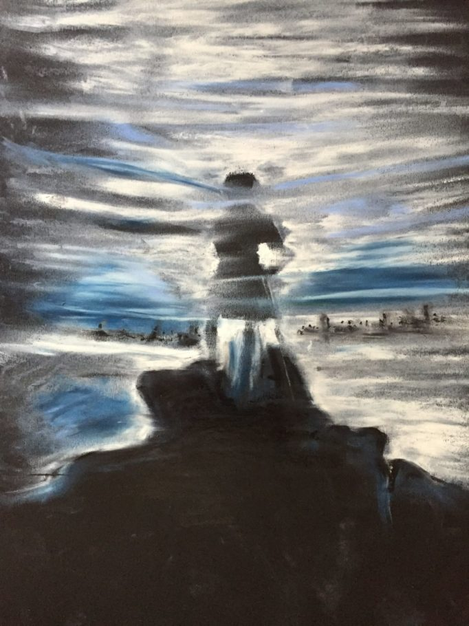 Wanderer über dem Nebelmeer – ca. 0.50m x 0.60m