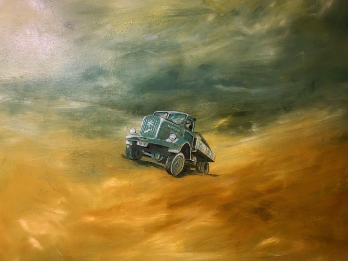 Der einsame LKW in der Wüste – ca. 1.50m x 1.20m