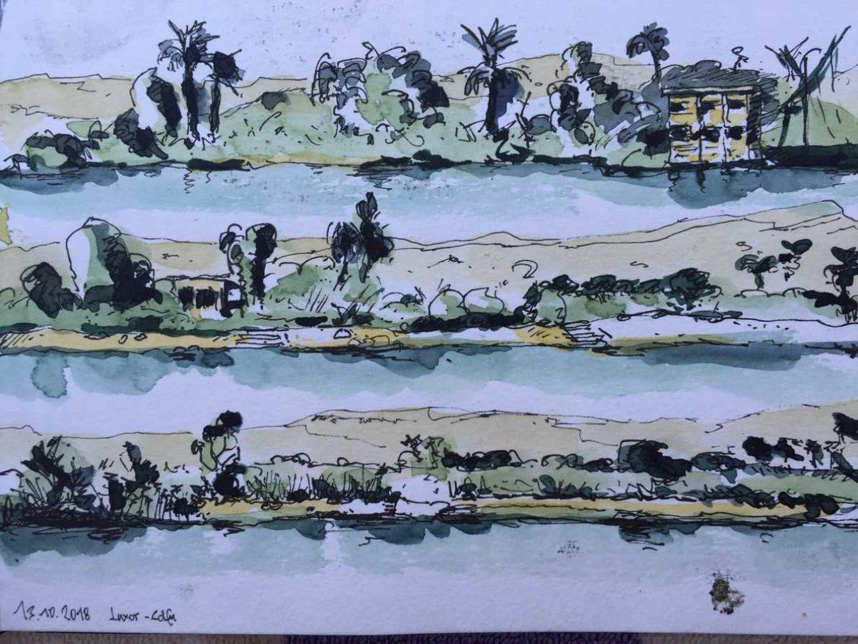 Auf dem Nil 01 – ca. 0.15m x 0.10m