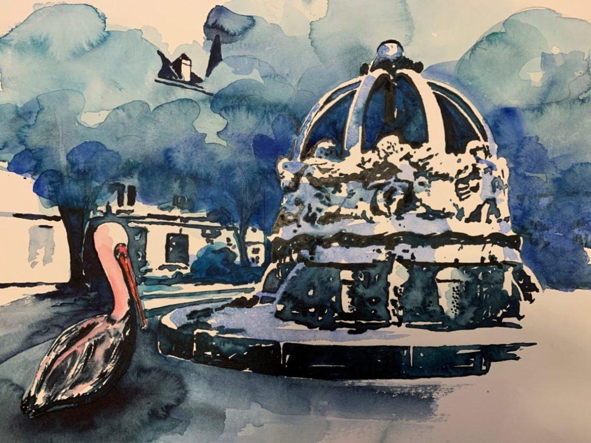 Der Krautkopfbrunnen am Gutenbergplatz 0.40 x 0.30