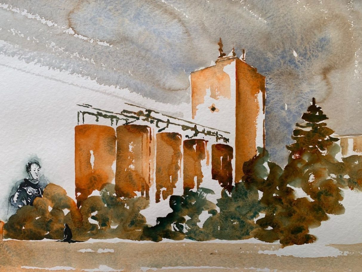 Alte Mühle Friedrichstal _ Aquarell 0.60 x 0.40