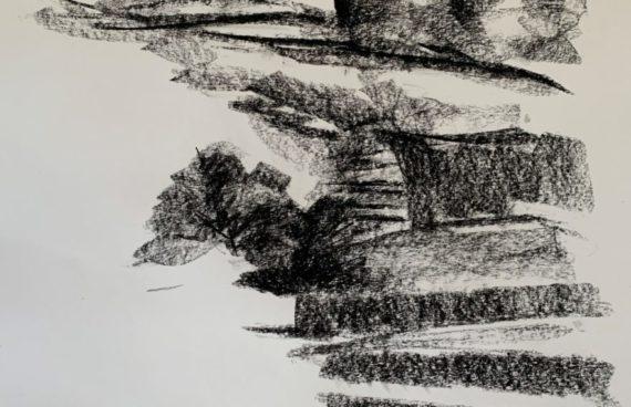 IN ARBEIT: Megalithe 04 _ Kohle _ 0.60 x 0.40