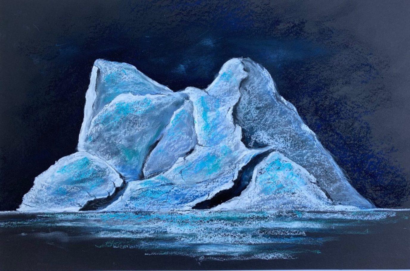 Eisberg 02 _ Ölpastell 0.70 x 0.50