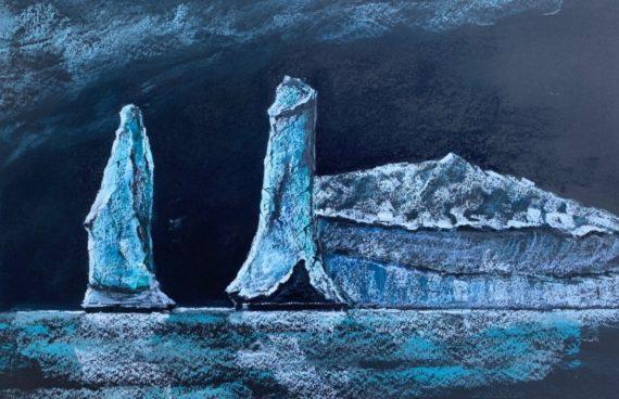 Eisberg 01 _ Ölpastell 0.70 x 0.50