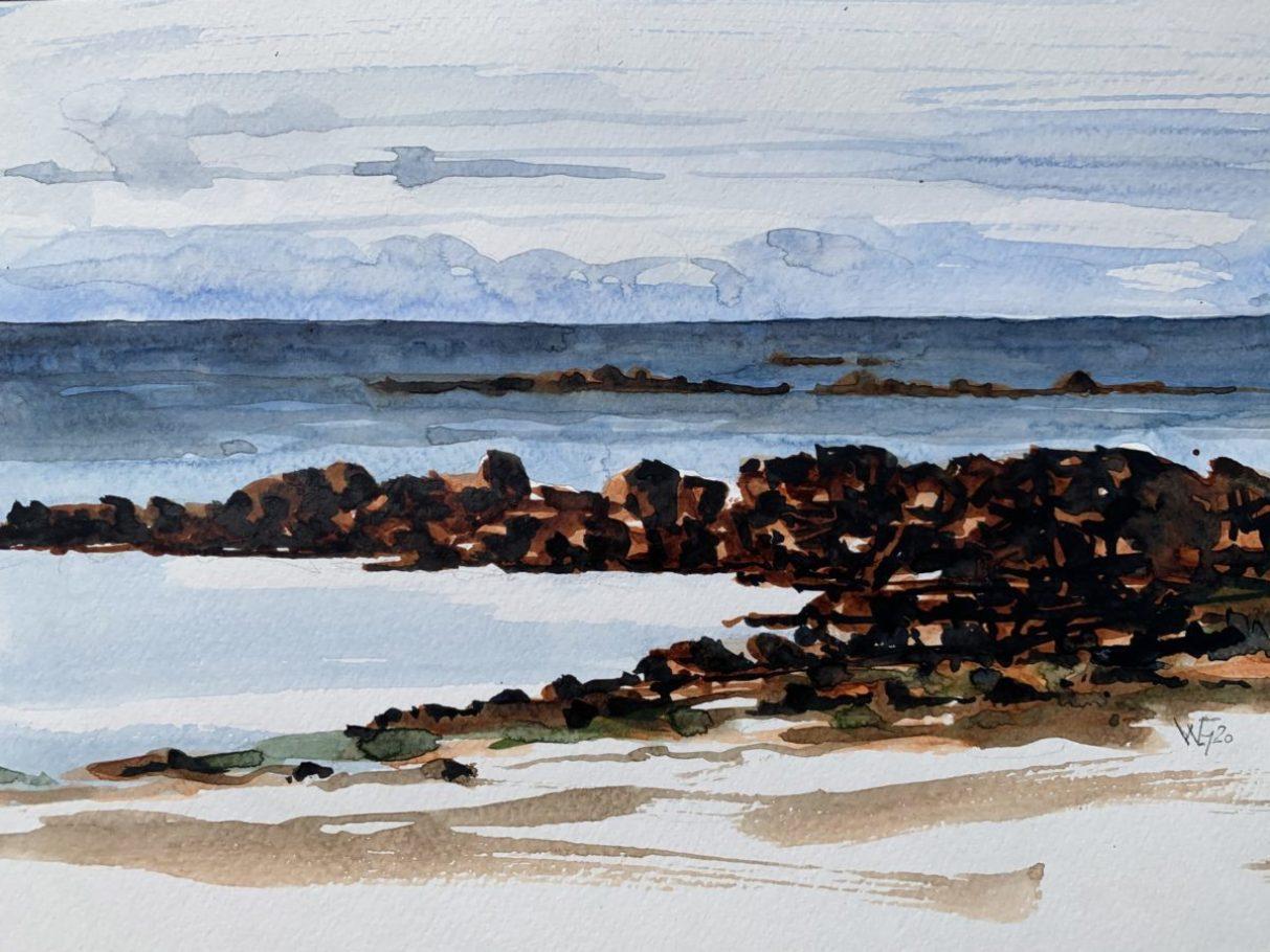 Normannische Küste – ca. 0.40m x 0.50m