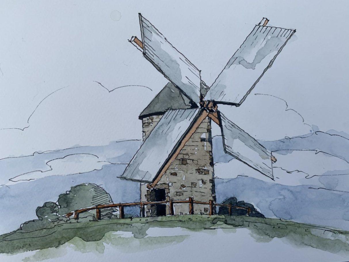 Normannische Windmühle – ca. 0.40m x 0.50m