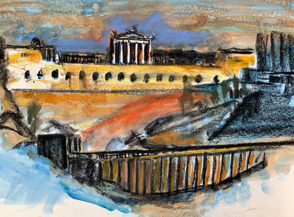Pergamon_ Ölpastell 0.70 x 0.50