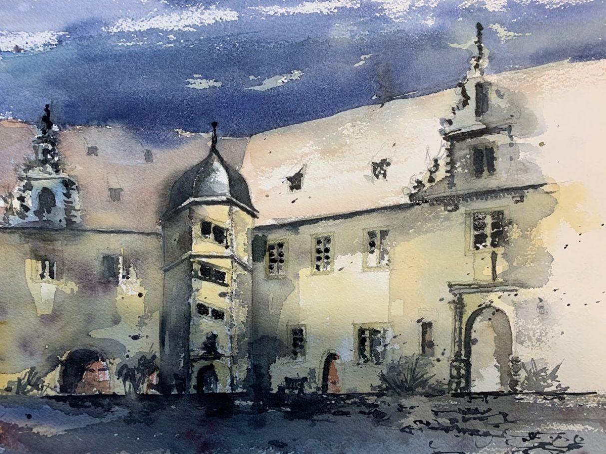 Kloster Schöntal _ Aquarell 0.60 x 0.40