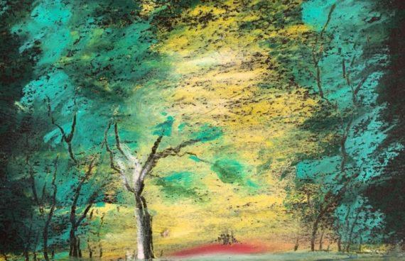 Winterbäume 04 _ Ölpastell 0.20 x 0.30