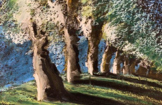 Winterbäume 03 _ Ölpastell 0.20 x 0.30