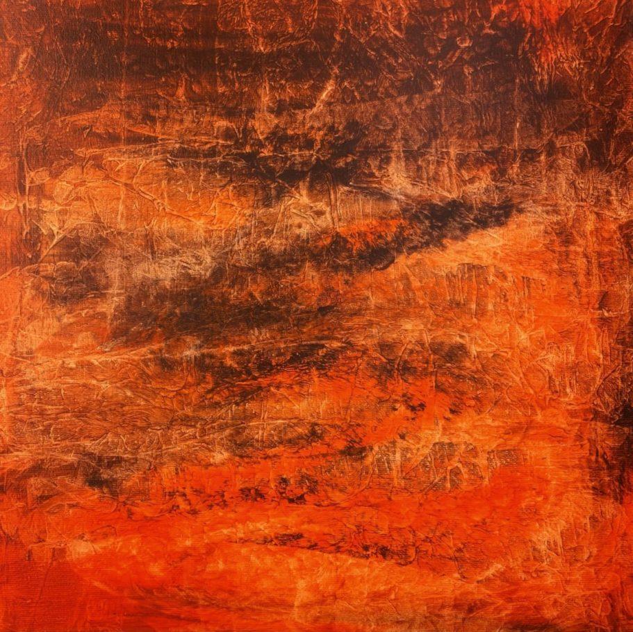 Landschaft in Orange _ Acryl 0.30 x 0.30