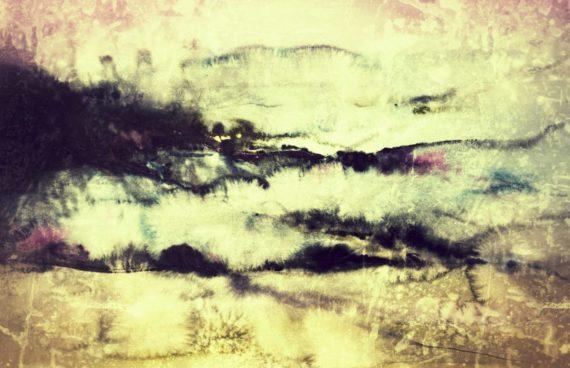 Über den Wolken _ Aquarell 0.70 x 0.50